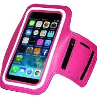 iPhone 6 6S Armband - Running & Exercise Sportband (4.7-inch) with Key Holder & Reflective Band (Hot Pink)