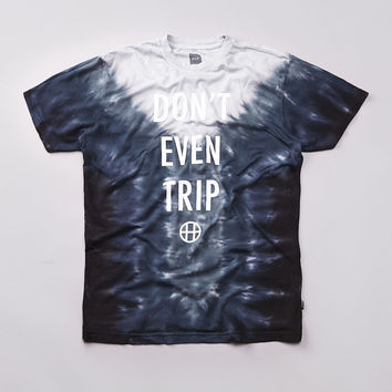 Flatspot - Huf Dont Even Trip T Shirt Black Tonal