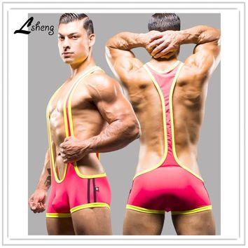 New Men Shapers Sexy Singlet Unitard Lingerie Underwear Man Body Shaper Bodysuit Wrestling Leotard Board Beach Swimwear