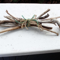 """Simple & Rustic 11"""" Bundle of Driftwood Sticks  for Holiday Decor , Beach Wedding, and Woodland Home Decor"""