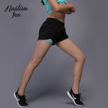 Yoga Gym Sport Shorts for Women Fitness Clothing Double-layer Athletic Biker Tennis Shorts Workout Running Short Tights NT023