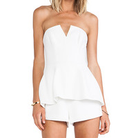 Finders Keepers Rise & Fall Playsuit in White