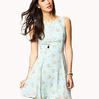 Multicolored Floral Print Dress