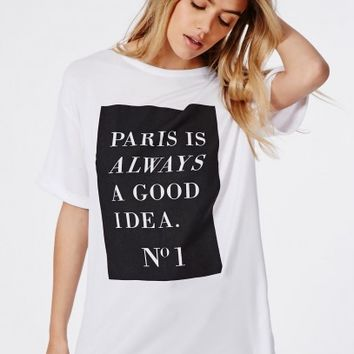 47945a1a373c5 Missguided - Slogan Paris Is Always A from MISSGUIDED