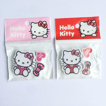 3pcs /Pack Kawaii Hello Kitty Rubber Eraser School Office Supply Drawing Writing Correction Stationery Student Gift