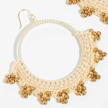 Serefina Macramé Hoop Earrings