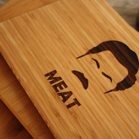 Ron Swanson Cutting Board - Parks & Recreation | Meat Cutting Board - Ron Swanson Parks and Rec Inspired