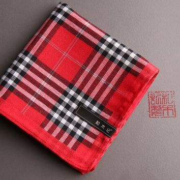 20167CityRaider New Silk Hankerchief Scarves Vintage Hankies Men's Pocket Square Plaid Print Handkerchiefs free shipping LH0100