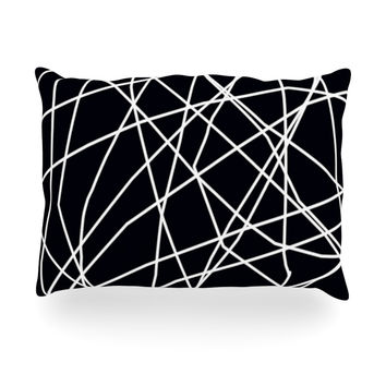 "Trebam ""Paucina"" Crazy Lines Oblong Pillow"
