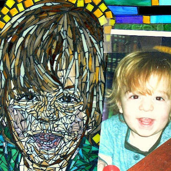 Custom Stained Glass Mosaic portraitsand other by dannimacstudios