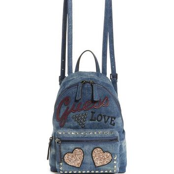 Urban Sport Leeza Denim Small Backpack at Guess