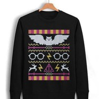 harry potter deathly christmas Unisex Sweatshirts