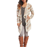Pretty Chevron Cascade Cardi | Wet Seal
