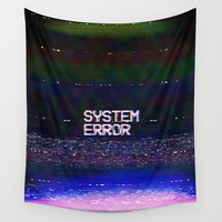 System Error Wall Tapestry by Text Guy