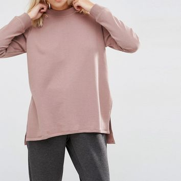 ASOS Side Split Sweatshirt