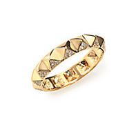 Sydney Evan - Diamond & 14K Yellow Gold Pyramid Band Ring - Saks Fifth Avenue Mobile