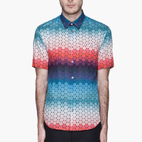 Jonathan Saunders Red Ombre Rainbow Dot Button Up Shirt for men | SSENSE