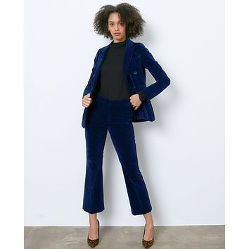 Softly Whisper Velvet Blazer - Navy