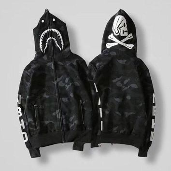 GPC8S BAPE Woman Men Fashion Hooded Cardigan Jacket Coat