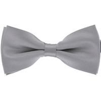 Tok Tok Designs Pre-Tied Bow Tie for Men & Teenagers (B14, Silver)