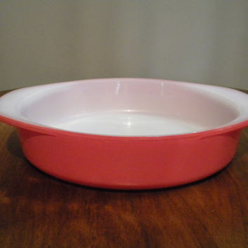 Pyrex Pink Flamingo Round Cake Pan 221, 1952-1957, Bakeware, Good condition, Bright and Shiny