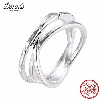 Dorado New Arrival Silver Ring Hollow Out Multi-layer Pure 925 Sterling Silver Midi Ring For Biker Men Women