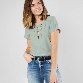 Daytrip Faux Suede Strappy Top - Women's Shirts/Blouses in Bok Choy | Buckle