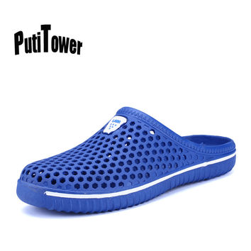 Summer Beach Men Casual Shoes Large Sizes Sandals Hawaiian Soft Breathabl Croc Slipper Jelly Sandale Femme Zapatos Mujer XK2233