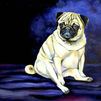 Pug Penny for your thoughts Flag Canvas House Size