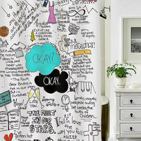okay okay quote special custom shower curtains that will make your bathroom adorable