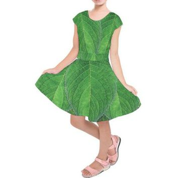 Kid's Tinkerbell Inspired Short Sleeve Dress