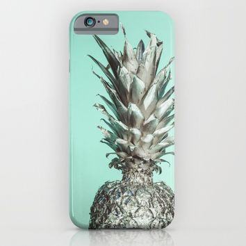Silver Mint Pineapple iPhone & iPod Case by The Backwater Co