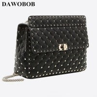 2018 Female Brand Luxury Hand Bag Woman Messenger Bags Lady Rivet chain Women Fashion Leather Shoulder Bag Girl Crossbody Bags