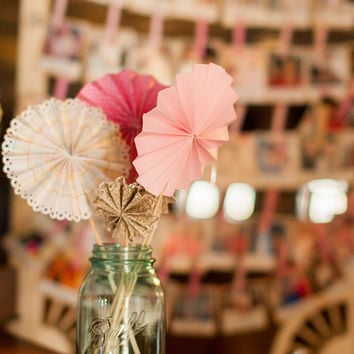 Pinwheel Wands Wedding Event Decoration