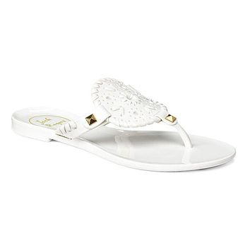 Junior's Miss Georgica Jelly Sandal in White by Jack Rogers