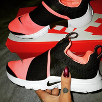 """NIKE"" Women Fashion Trending Black/Pink Leisure Running Sports Shoes"