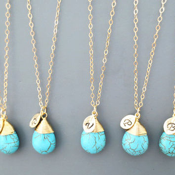 Set of 1-4, Turquoise, Necklace, Beach, Wedding, Nautical, Bridesmaid, Jewelry, Set, Necklace, Set, Bridal, Necklace, For, Bride
