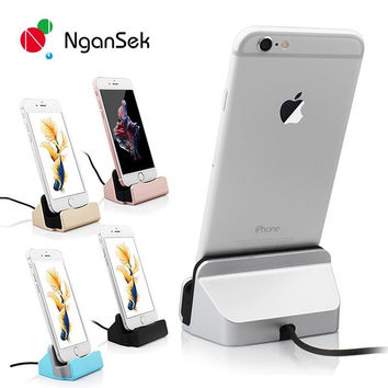 High Quality Sync Data Charging Dock Station Desktop Docking Charger USB Cable For Apple iPhone 5 5S 5C SE 6s 6 Plus Dock