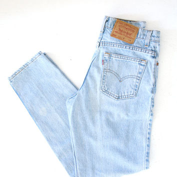 Vintage Levi's Mom Jeans 550 High Waisted Jeans Relaxed Fit Tapered Leg 29W 29 x 32