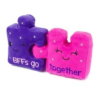 BFFs Go Together Puzzle Piece Pillow Set  | Claire's