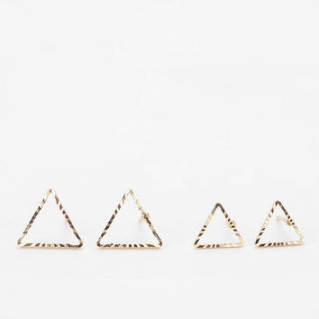 Urban Outfitters - Triangle Earring Set