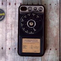 Vintage Rotary Payphone iPhone 4 / 4s Black case
