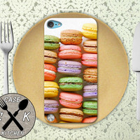 Macaron Cookie French Macaroon Rainbow Tumblr Cute Custom Rubber Case iPod 5th Generation and Plastic Case For The iPod 4th Generation