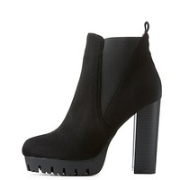Side Gore Lug Sole Booties