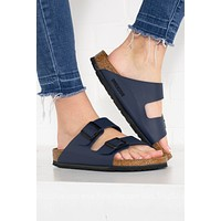 Arizona Birko-Flor Soft-Bed Birkenstocks | Blue