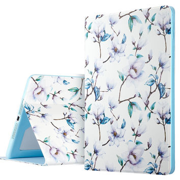 Folio Stand PU Leather Secret Garden Floral Auto Sleep/Wake Magnetic Smart Cover for iPad mini 1 2 3