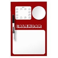 2016 Maroon Dry Erase Calendar by Janz Dry Erase Board With Mirror