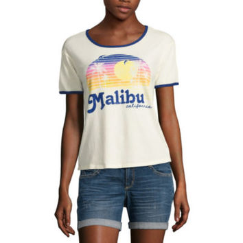 """Malibu"" Graphic T-Shirt- Juniors - JCPenney"