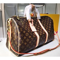 LV Fashion Sell Male and Female Printed Large Luggage Bags High-quality