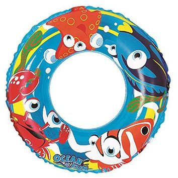 By PoolCentral 20 inch  Blue Ocean Fun Children's Inflatable Swimming Pool Inner Tube Ring Float